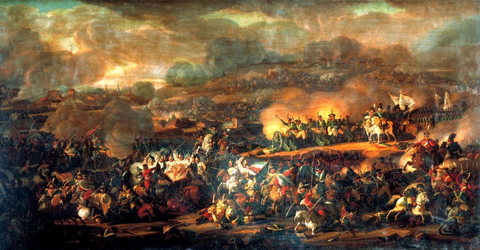 Мошков В.И. Сражение под Лейпцигом. 1815 г. (?) Холст, масло
