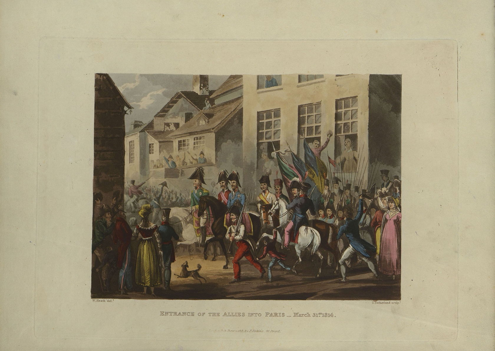 Гравюра Т. Сазерленда по рисунку У. Хита Вступление союзников в Париж 31 марта 1814 г., 1815