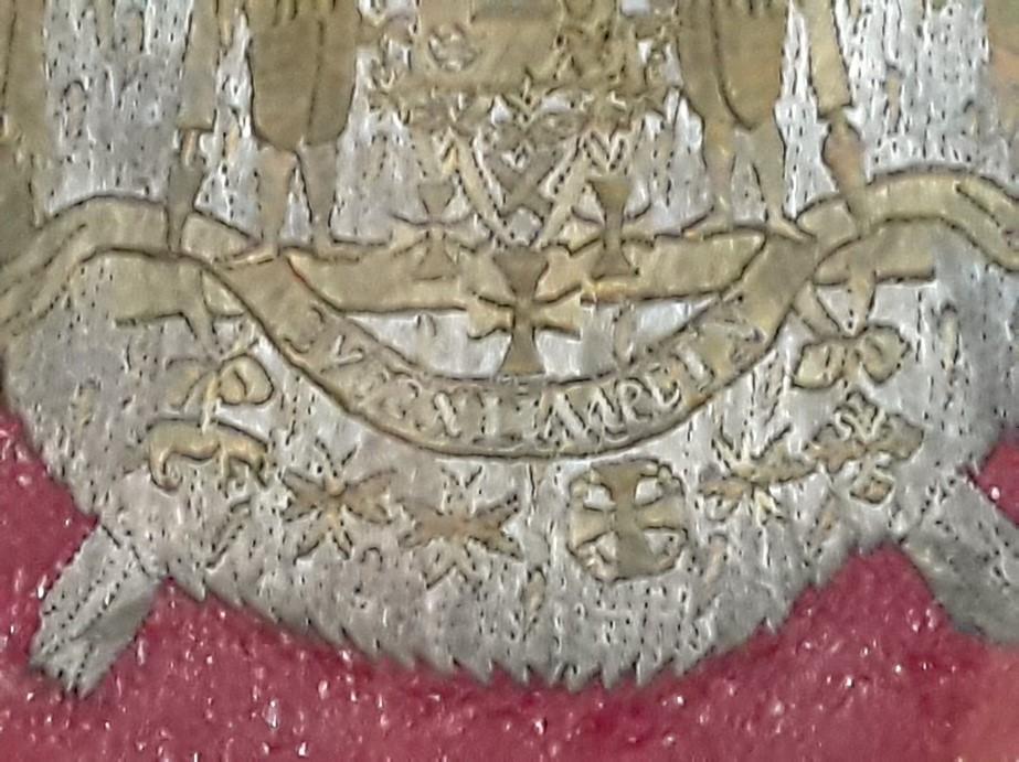 Фрагмент герба на портфеле Г.А. Потёмкина