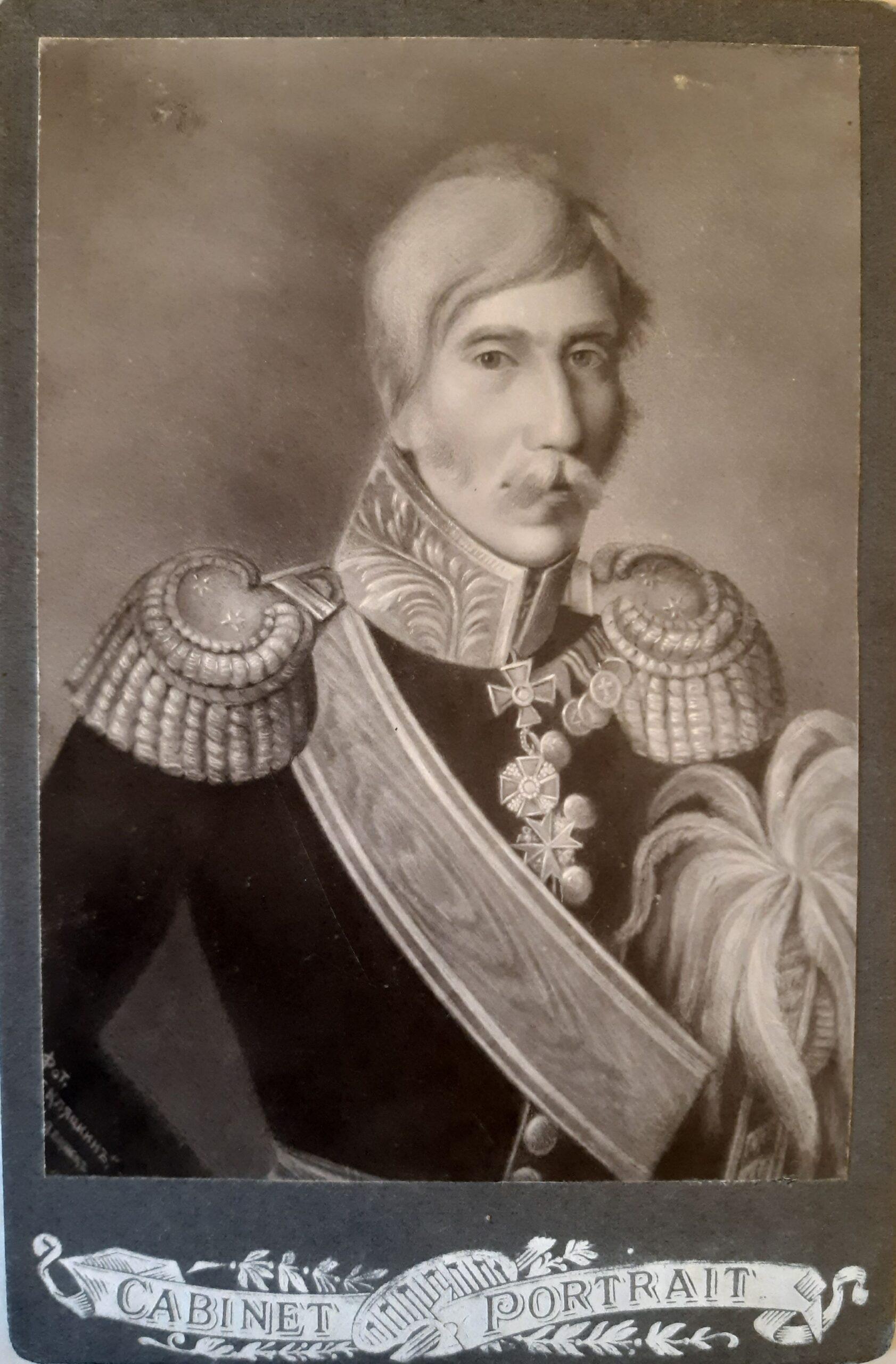 Портрет Адама Григорьевича Энгельгардта Фотография Кляцкина. г.Двинск, 1911