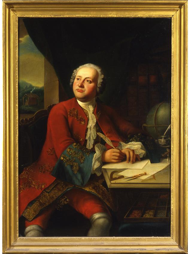 Портрет Ломоносова. Неизвестный художник. Копия с несохранившегося оригинала Г. К. И. фон Преннера. 1755 г.