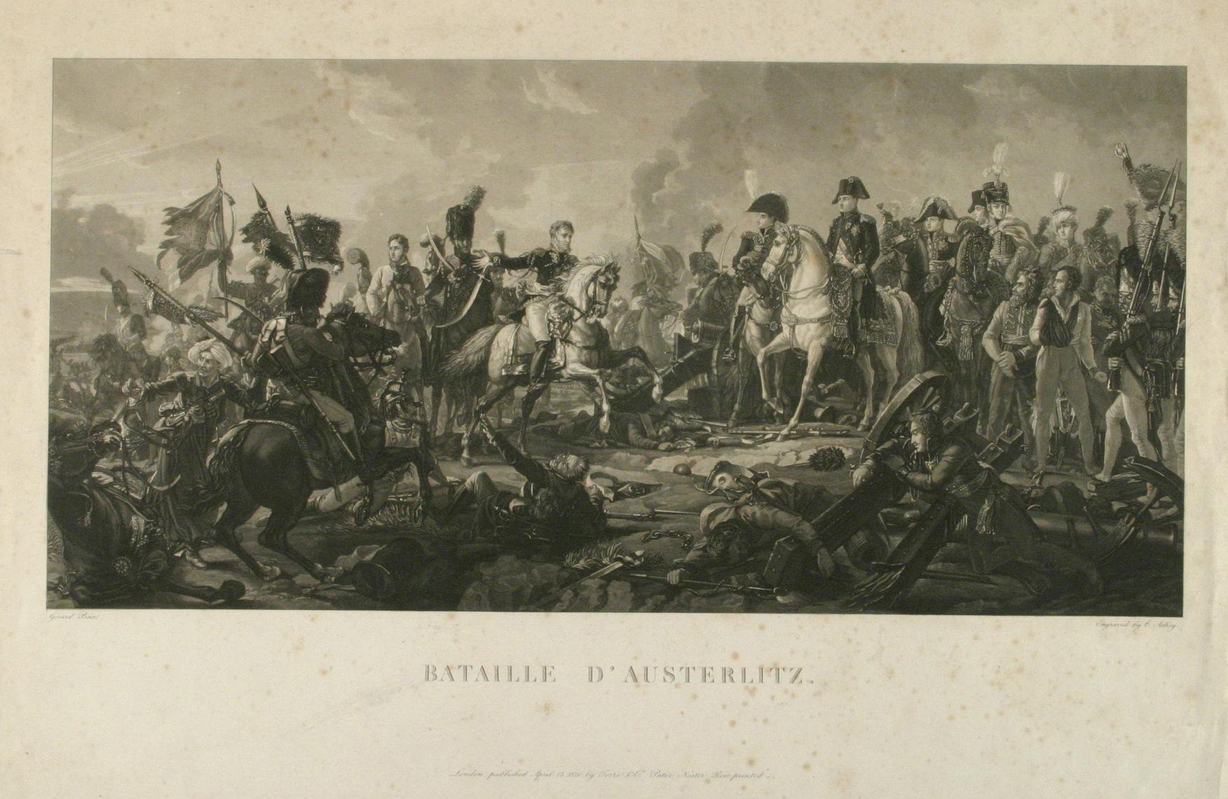 Сражение при Аустерлице 2 декабря 1805 г Гравюра Ч. Аскея по оригиналу Жерара. 1820 г.
