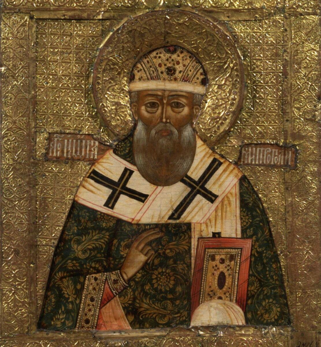 Икона двухсторонняя выносная. «Богоматерь Умиление»— «Митрополит Иона». Середина XVIIв.