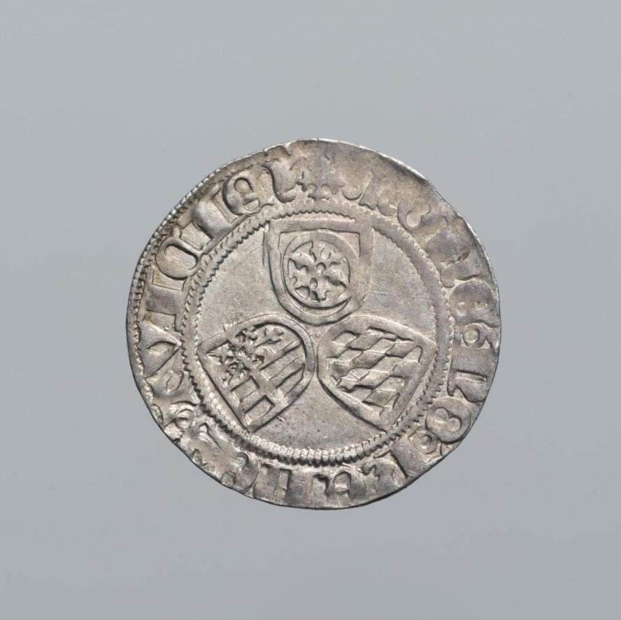 Монета. Священная Римская империя, Кёльнское архиепископство. Герман фон Вид (1515–1547). Вайспфенниг (альбус) 1521 г. Серебро, чеканка
