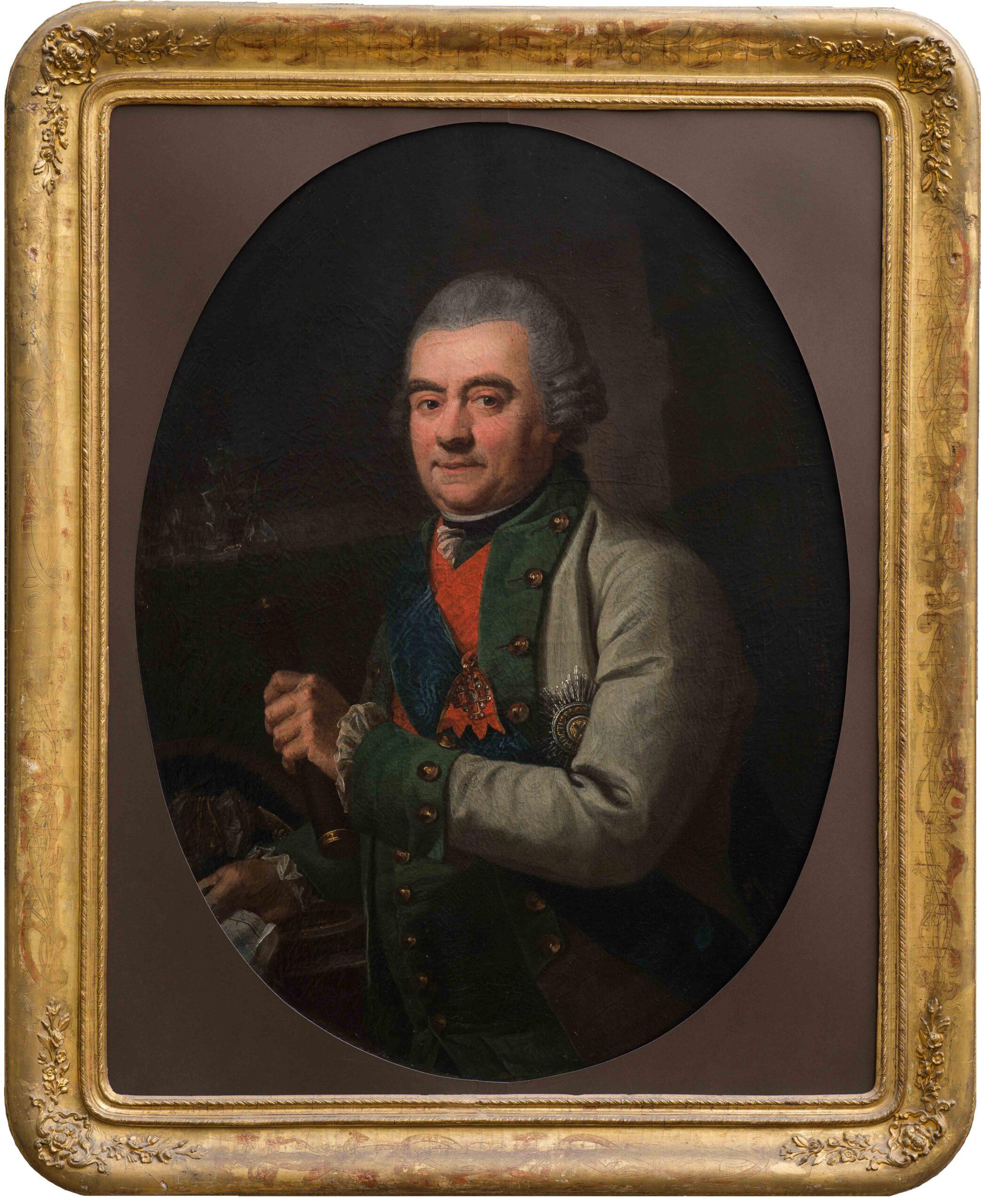 Неизвестный художник. Портрет адмирала Григория Андреевича Спиридова (1713 - 1790). ГИМ.